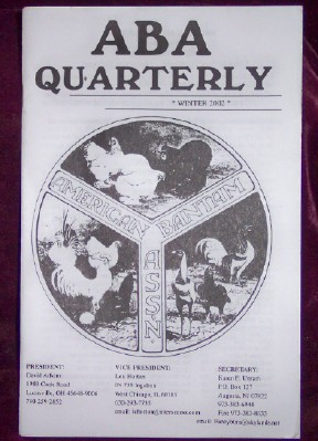 Image for ABA Quarterly, Winter 2002