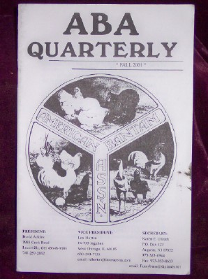 Image for ABA Quarterly, Fall 2001