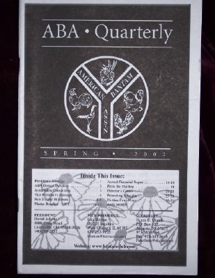 Image for ABA Quarterly, Spring 2002
