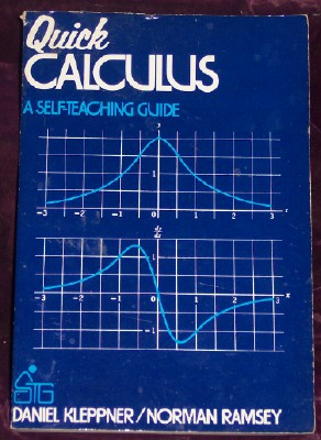 Image for Quick Calculus; A Short Manual of Self Instruction