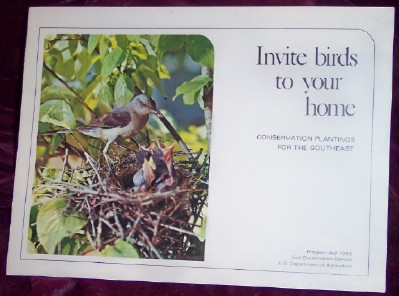Image for Invite Birds to Your Home; Conservation Plantings for the Southeast