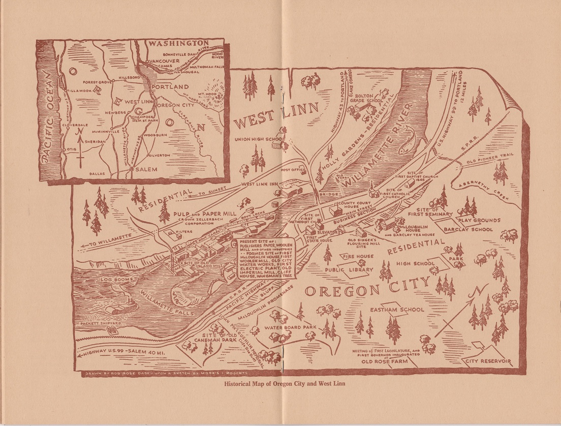 Image for A Brief History of Oregon City and West Linn Oregon, Highlights in the Development of an Historic Community Whose Pioneers Fashioned and Rocked the Cradle of a Great State