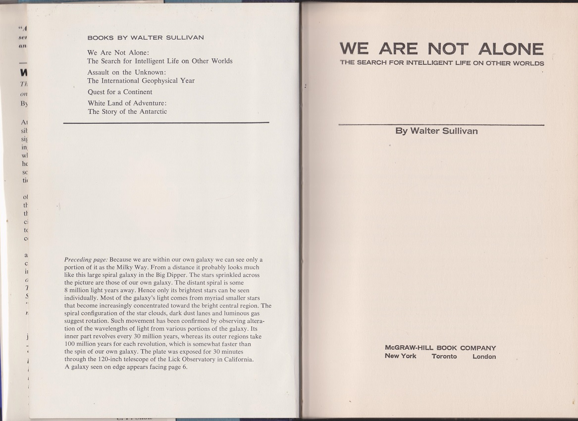 Image for We Are Not Alone, The Search for Intelligent Life on Other Worlds