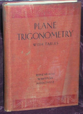 Image for Plane Trigonometry With Tables