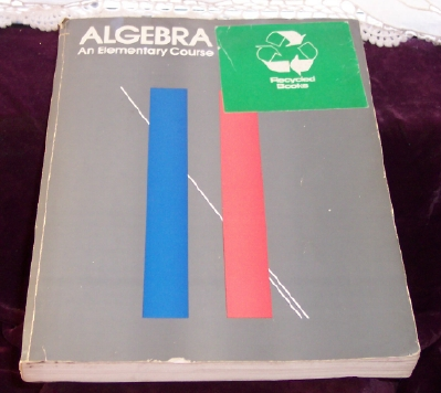 Image for Algebra, an Elementary Course