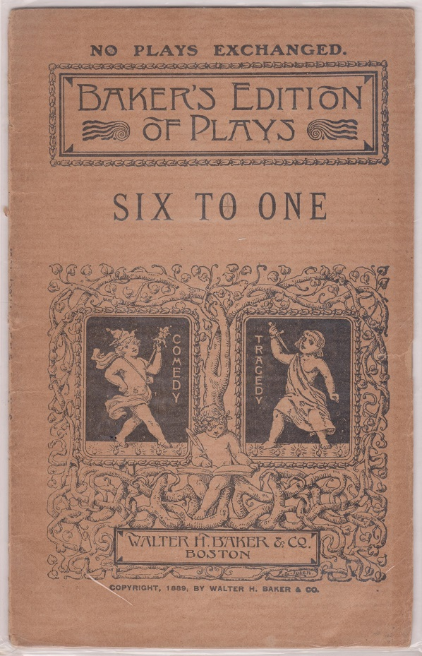 Image for Six to One or The Scapegrace: A comedy in One Act