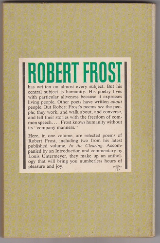 Image for New Enlarged Pocket Anthology of Robert Frost's Poems