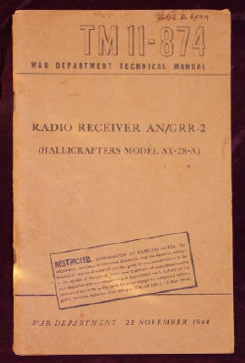 Image for Radio Receiver AN/GRR-2 (Hallicrafters Model SX-28-a)