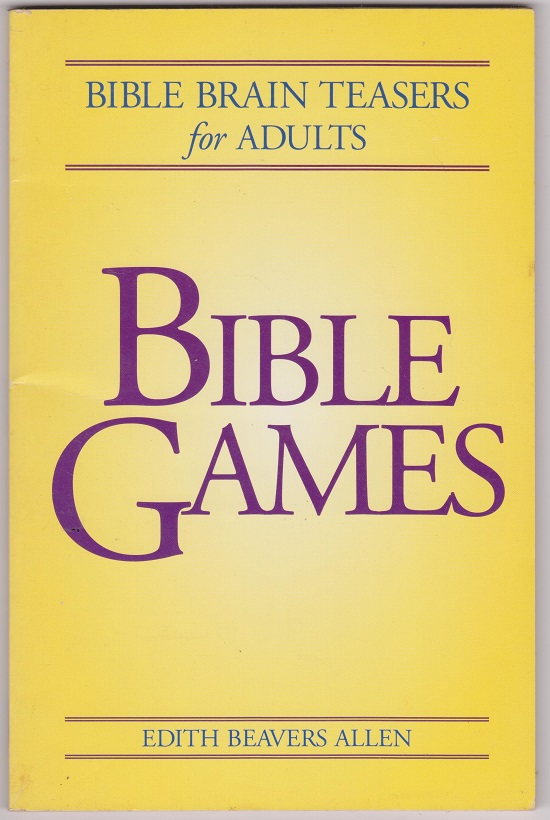 Image for Bible Games, Bible Brain Teasers for Adults