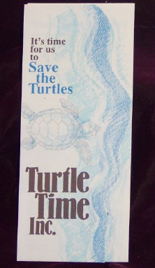 Image for It's Time for us to Save the Turtles; Turtle Time Inc.